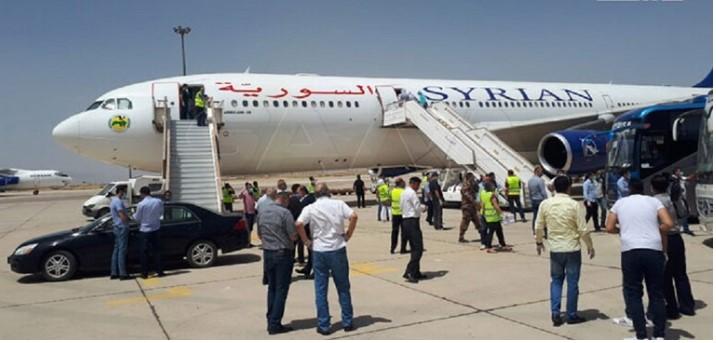 re-run aviation movement for passengers via Damascus Airport