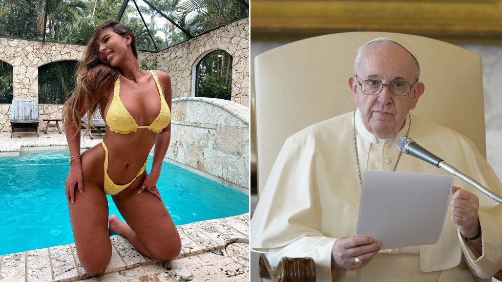 Pope's Instagram account 'liked' picture of scantily-clad Brazilian model!!