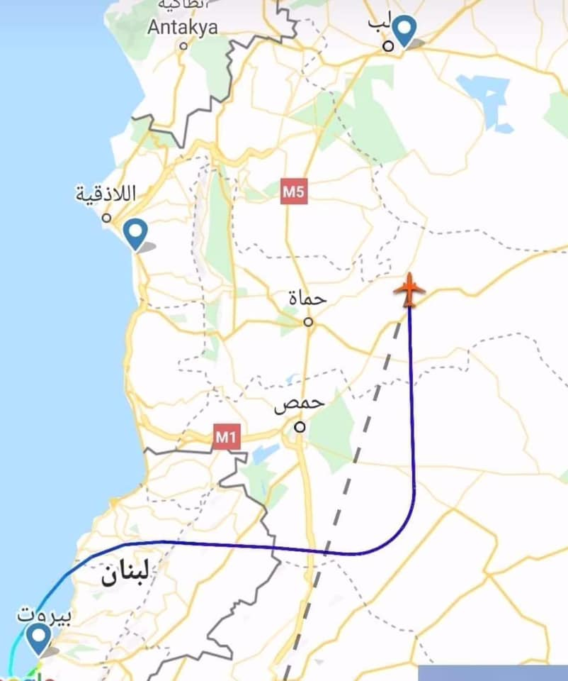 First plane arrives in Aleppo airport from Beirut