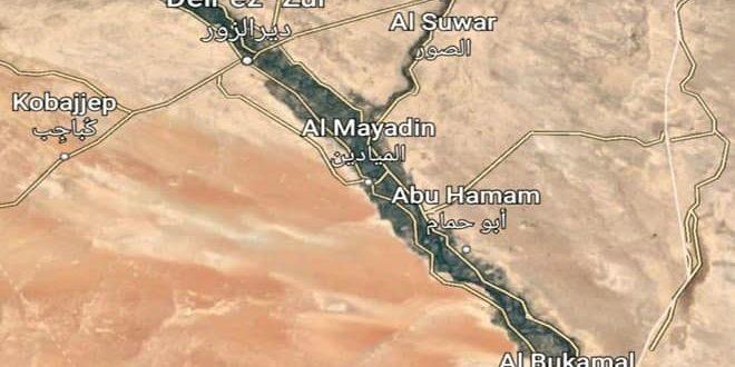 Israel Warplanes Strike on Deir Ezzor and al-Bukamal area