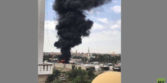 حريق هائل في وسط دمشق.. شاهد!