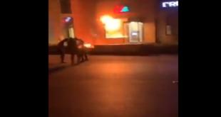 هجمات بالقنابل على مصارف في لبنان (فيديو وصور)