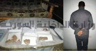 القبض على مروج عملة مزورة وتاجر مخدرات في ريف دمشق