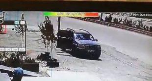 شاهد لحظة استهداف السيارة بصاروخ إسرائيلي في جديدة يابوس