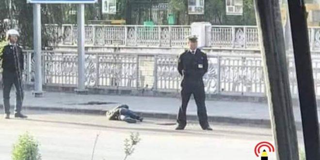 فتاة تسقط مغشياً عليها في أحد شوارع دمشق
