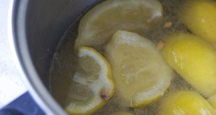 غلي حبات الليمون الحامض وشربه على الريق
