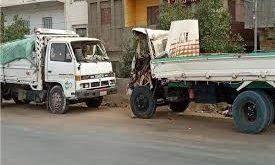 إصابة ١٠ أشخاص بحادث تصادم سيارتي شحن بريف حمص