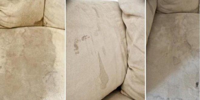 كيف تختفي البقع العنيدة عن قماش الكنبة