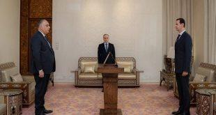 وزير التجارة الداخلية الجديد يؤدي اليمين الدستورية أمام الرئيس بشار الأسد