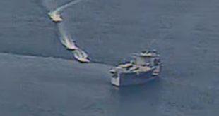 مُدمرة ايرانية تقصف سفينة حربية ايرانية عن طريق الخطأ وتوقع خسائر بشرية