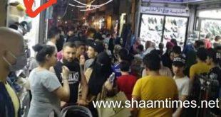 سوريا ليلة العيد.. وحده المانيكان يلبس الكمامة!