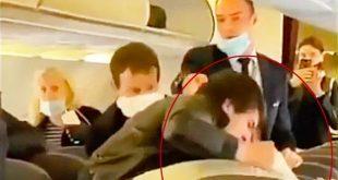 شجار عنيف على متن طائرة روسية بسبب كورونا.. شاهد!