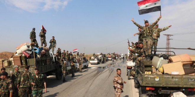 """حشود سورية لاقتحام """"المزيريب"""" بريف درعا والجيش يستقدم تعزيزات كبيرة"""