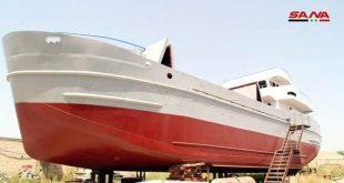 عائلة طرطوسية تصنع سفينة بقدرة تحميل 300 طن وبمواصفات عالمية