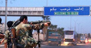 حشود عسكرية سورية قرب ادلب