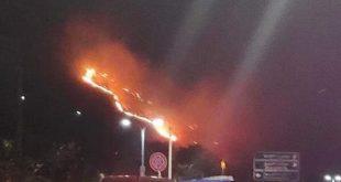 حريق ضخم في الربوة بدمشق