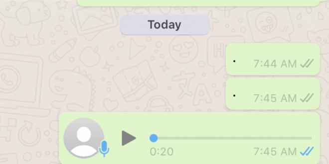 هكذا تسجل الرسائل الصوتية في واتساب