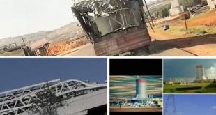 إرهابيو إدلب يقطّعون ويسرقون برج تبريد محطة زيزون لبيعه كخردة في تركيا