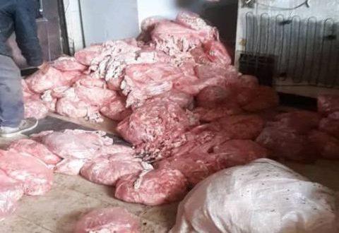مصادرة 6 أطنان لحم فاسد ونتر فروج في بدمشق