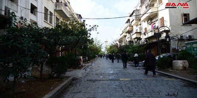منع وقوف وتوقف السيارات في دمشق القديمة