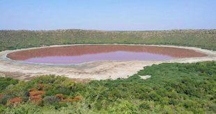 بحيرة شهيرة في الهند تتحول إلى اللون الوردي