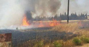 حريق ضخم على مساحة 10 كم في ريف حمص