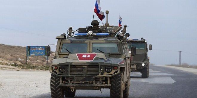 انفجار عبوة ناسفة تحت عربة تابعة للشرطة العسكرية الروسية