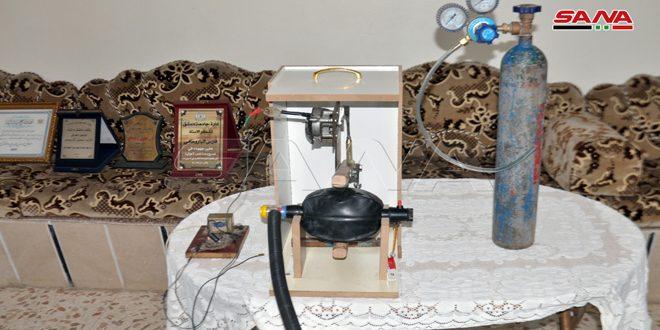 ابتكار جهاز تنفس اصطناعي إسعافي بالسويداء سهل الاستخدام