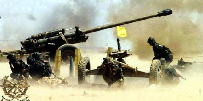 الجيش السوري يدك مواقع الميليشيات المسلحة بالمدفعية الثقيلة بريف إدلب