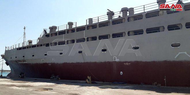 أتلانتك روز تغادر ميناء طرطوس في أول رحلة