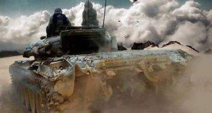 """رتل عسكري سوري ضخم يدخل """"عين عيسى"""" ويتموضع على خطوط التماس مع الجيش التركي"""