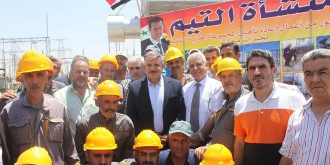 تأهيل محطة للكهرباء في دير الزور بعد سنوات على توقفها