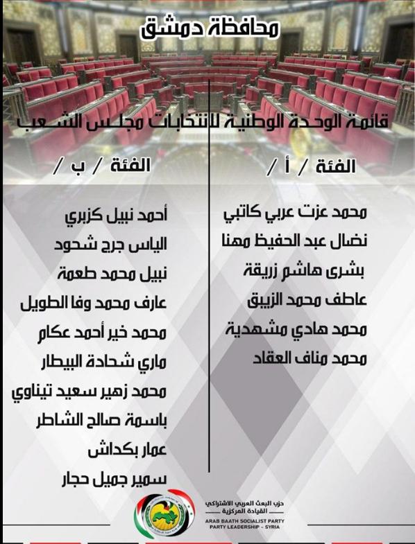 الاعلان عن قوائم الوحدة الوطنية للانتخابات التشريعية القادمة