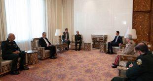 """الرئيس الأسد يعلق على اتفاقية عسكرية """"شاملة"""" مع إيران"""