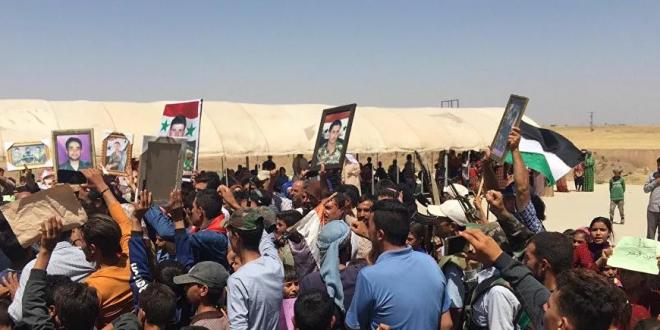 Screenshot 2020 07 19 مظاهرات في الحسكة السورية لطرد الجيش الأمريكي صور وفيديو