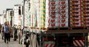 سورية.. عبور 29 شاحنة محملة بالخضار