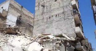 وفيات وجرحى إثر انهيار مبنى في حي كرم القاطرجي بحلب