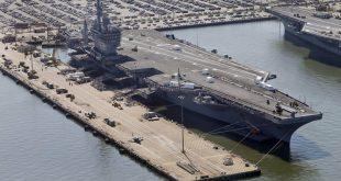وصول حاملة طائرات أميركية نووية و 12 سفينة حربية إلى البحر الأبيض المتوسط