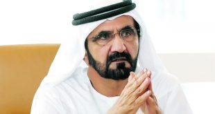 بالكمامة الطبية.. محمد بن راشد يفاجئ روّاد مقهى في دبي