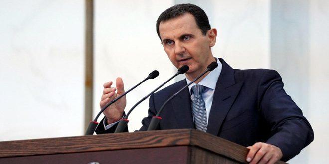 الرئيس الأسد يتحدث عن قانون قيصر وسر حرق المحاصيل الزراعية السورية