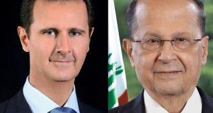 الرئيس الأسد يوجه برقية الى الرئيس عون