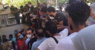 ضجة على مواقع التواصل الاجتماعي.. شاهد ماذا يحدث أمام مركز فحص كورونا بدمشق!!