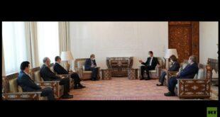 """مباحثات سورية إيرانية حول """"مناقشة الدستور"""".. الأسد: ماضون في المسار السياسي"""