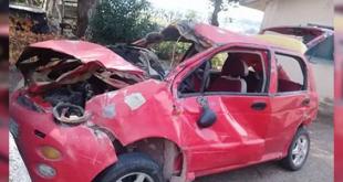 تدهور سيارة شيري على أوتستراد حمص طرطوس يودي بحياة ٣ أشخاص