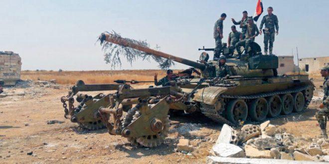 الجيش السوري يشتبك مع فلول داعش في بادية حماة الشرقية ويدك «النصرة» بريف إدلب
