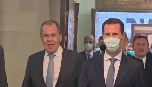 لافروف في دمشق للقاء الأسد.. فيديو وصور