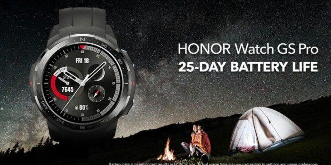 هونر تعلن ساعتيها الذكيتين Watch GS Pro و Watch ES