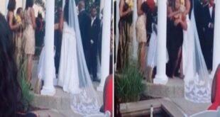 أمريكية تقتحم حفل زفاف عشيقها وتصرخ في وجهه: أنا حامل منك.. شاهد!