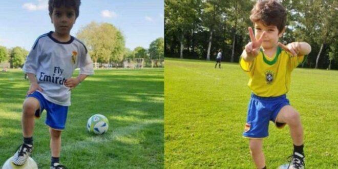 عبود.. طفل سوري يذهل الألمان بمهاراته الكروية