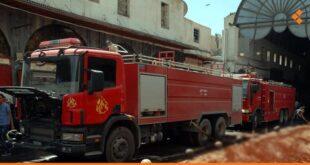 انتشال جثمان محترق لرجل مسن بعد إخماد حريق في دمشق القديمة